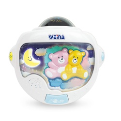 Weina Teddy Twins Night Light with Projector