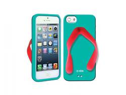 SBS Back Cover Tropical Blue Red (iPhone 5/5s/SE)