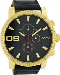 Oozoo Large Timepieces Black Leather Strap C6655