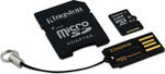 Kingston microSDXC 64GB U1 with Adapter and USB CardReader