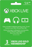 Microsoft Xbox Live Gold Membership Card 3 Month