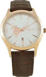 U.S. Polo Assn. Brown Leather Strap USP4223RG