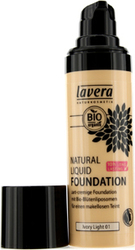 Lavera Natural Liquid Foundation 10H Long Lasting Ivory Light 30ml