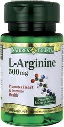 Nature's Bounty L-Arginine 500mg 60 κάψουλες