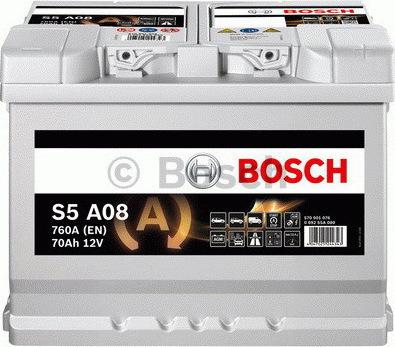 bosch s5a08 agm 70ah 760a. Black Bedroom Furniture Sets. Home Design Ideas