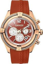 Breeze Flirtini Chronograph Rose Gold Stainless Steel Rubber Strap 110211.11