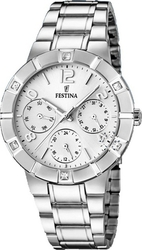 Festina Crystals Multifunction Stainless Steel Bracelet F16706/1