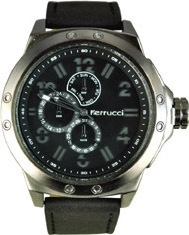 Ferrucci Black Leather Strap FC5936K.05