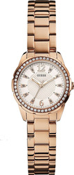 Guess Crystals Rose Gold Stainless Steel Bracelet W0445L3