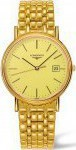 Longines Presence Three Hands Gold Stainless Steel Bracelet L47902328