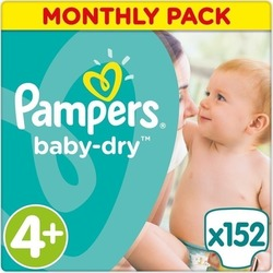 Pampers Baby Dry Monthly Pack No 4+ (9-20Kg) 152τμχ