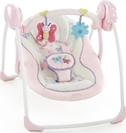 Bright Starts Portable Swing in Penelope Petals