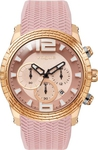 Vogue Envy Chrono Rose Gold Pink Rubber Strap 17011.3