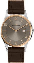 Jacques Lemans Classic London Two Tone Brown Leather Strap 1-1777X