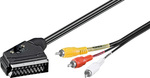 OEM AV Cable Scart male - 3x RCA male 2m