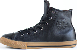 Converse Chuck Taylor Hi Blk Leather Sneakers 645194C