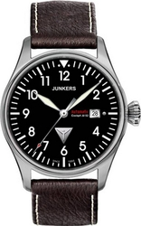 Junkers Cockpit Ju 52 Automatic Brown Leather Strap 6156-2