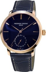 Frederique Constant Classics Slim Line Automatic Blue Leather Strap FC-710N4S4