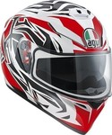 AGV K-3 SV Rookie White/Gunmetal/Red