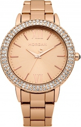 Morgan De Toi Crystals Rose Gold Stainless Steel Bracelet M1229RGM