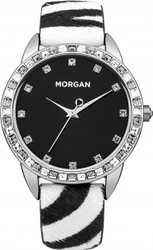 Morgan De Toi Crystals Animal Prin Leather Strap M1210B