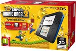 Nintendo 2DS Black and Blue & New Super Mario Bros. 2 Special Edition