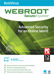 Webroot Secure Anywhere Antivirus 2015 (1 Licence , 1 Year)