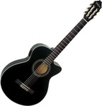 Washburn EAC-12 Black Mini Jumbo