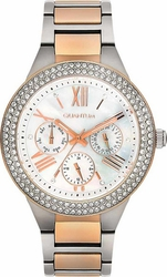 Quantum Impulse Crystals Rose Gold Stainless Steel Bracelet IML419.520