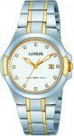 Lorus Ladies Three Hands Two Tone Gold Stainless Steel Bracelet RJ288AX-9