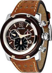 Glam Rock Miami Brown Leather Strap GR10138