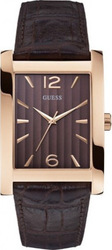 Guess Brown Leather Strap W0372G2
