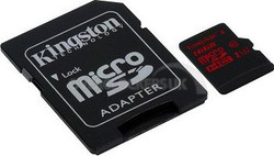 Kingston microSDHC 16GB UHS Speed Class 3 with Adapter