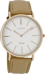 Oozoo Timepieces Vintage Beige Leather Strap C7330
