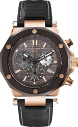 Guess Collection GC-3 Sport Chic Chronograph Black Leather Strap X72024G5S