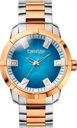 Breeze Safari Chic Three Hands Two Tone Rose Gold Stainless Steel Bracelet 710381.5