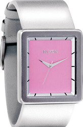 Nixon 6 The Portrait Pink/silver Leather Strap A304-718