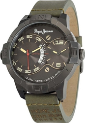 Pepe Jeans Sport Dual Time Khaki Leather Strap R2351107003