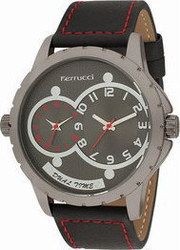 Ferrucci Dual Time Leather Band FC9724K.07