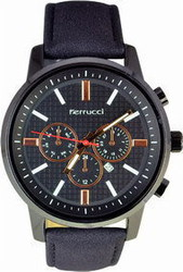 Ferrucci Dark Blue Leather Strap FC6647K.01