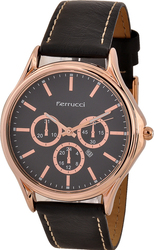 Ferrucci Leather Band Watch With Date FC10221.03