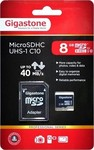 Gigastone microSDHC 8GB U1 Professional with Adapter