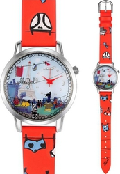 Elle Girl Stainless Steel Multicolor Leather Strap GW40094S01X