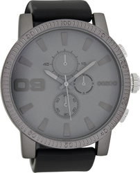 Oozoo Timepieces Black Rubber Strap C7107