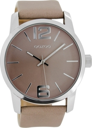 Oozoo Timepieces Beige Leather Strap C7013