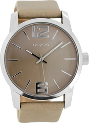 Oozoo Timepieces Beige Leather Strap C7010