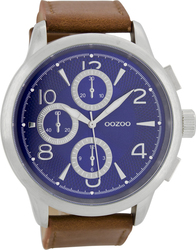 Oozoo Timepieces Brown Leather Strap Unisex C7056