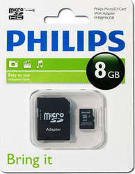 Philips microSDHC 8GB Class 4 with Adapter