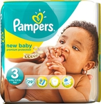Pampers New Baby No 3 (4-9Kg) 29τμχ