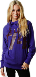 FOX GIRLS THRILLING PO HOODY ULTRAVIOLET